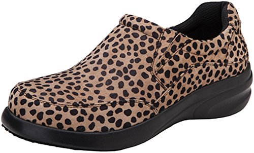 Dickies Footwear ALICE Women's Leather Step In Shoe Cheetah 11 M US (Dickies Lightweight Clogs)