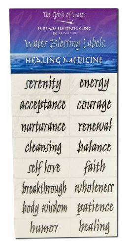 Water Blessing Labels Healing Medicine Collection 16 -