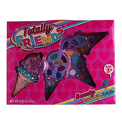 Totally Friends Kids Pretend Play Makeup Kit - Designer Girls Makeup Palette for Kids - Packed In a Cute Ice Cream Shaped Vanity - Non-Toxic and Washable.: Toys & Games