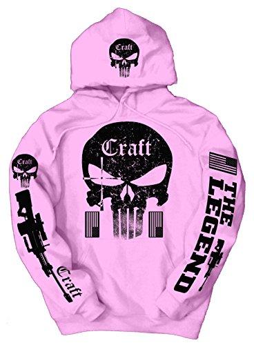 Price comparison product image American Sniper Craft Black Logo Hoodie,  XL Pink