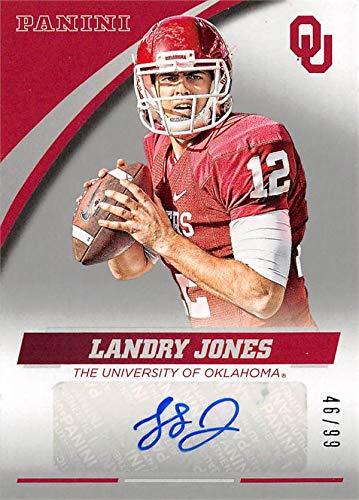Landry Jones autographed Football Card (Oklahoma Sooners) 2016 Panini Team Collection #LJ-OU LE 46/99
