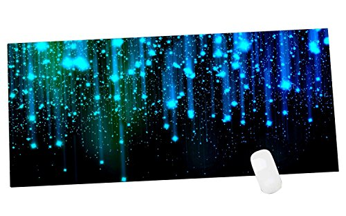 51ttqvv1cXL - Cennbie Mouse Pad Blue Line Sparkles Large MousePad Computer Desk Stationery Accessories Mouse Pads