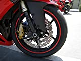 """Red Reflective Wheel Rim Stripe Decal Tape for Motorcycle Wheels 17"""" or Car Wheels 16""""-18"""""""
