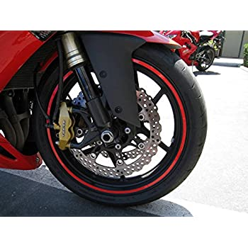 "Red Reflective Wheel Rim Stripe Decal Tape for Motorcycle Wheels 17"" or Car Wheels 16""-18"""