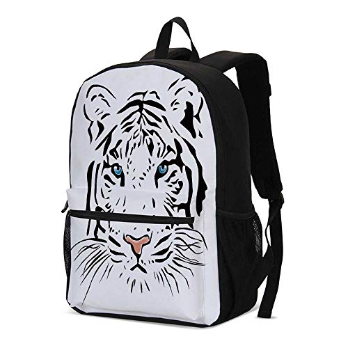 (Tattoo Decor Fashional Backpack,Language of Love Musical Note Inspiration on Sheet with Rose Hearts for School Travel,12.2
