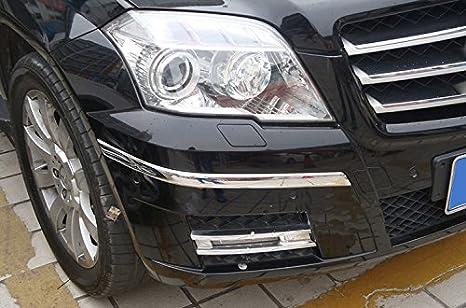 Cromado ABS parachoques delantero protección llantas para Mercedes Benz GLK GLK350 glk280 GLK200 GLK250 GLK300 2008 - 2015: Amazon.es: Coche y moto