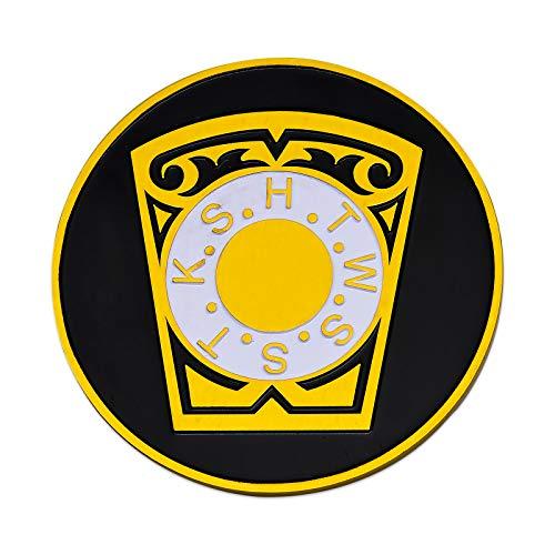 - York Rite Keystone Round Black Masonic Auto Emblem - 3