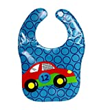 SUPPION EVA Soft Baby Waterproof Bibs, Fantastic Animal Printing Kids Child Bibs Burp Cloths. Safety, Convenience, Health(1 Pack) (A)