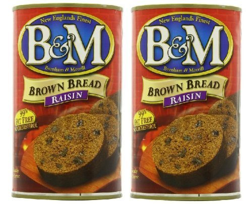 B&M Original Brown Bread in Can: Raisin (16 oz Cans) 2 Pack by B&M