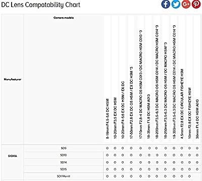Sigma 17-50mm f/2.8 EX DC OS HSM FLD Large Aperture Standard Zoom Lens by Sigt9