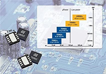 stmicroelectronics lmv824idt Amplificador Operacional, Quad, 5.5 MHz, 4 – Amplificador, 1.9 V
