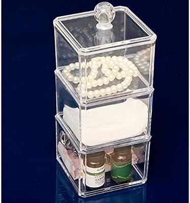 Oriskey Acrílico Caja Organizador Transparente Caja de Algodón ...