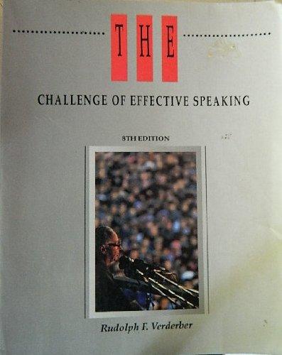 The Challenge of Effective Speaking (Speech & Theater)
