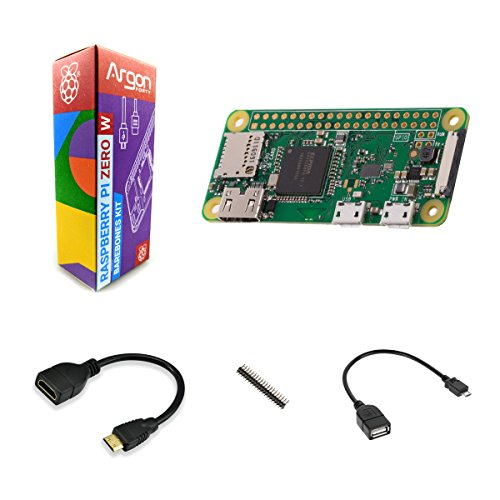 Argon Forty Raspberry Pi Zero W Barebones Kit | Has WiFi and Bluetooth | Mini HDMI Audio-Video | Can Run Python 3 | NOT Included: Micro SD Card, Power Supply, and Case