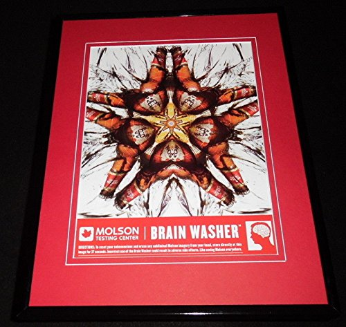 2005 Molson Canadian Lager Beer Brain Wash Framed 11x14 ORIGINAL Advertisement ()