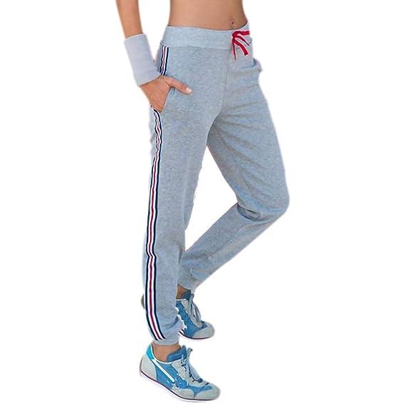heiß-verkauf echt Wählen Sie für offizielle modernes Design Samhuiyuan Damen Sweatpants Hüfthose Lässige High Waist Sweathose Casual  Seite Streifen Pants Jogginghose Gummizug Lange Röhrenhosen Trainingshose  ...