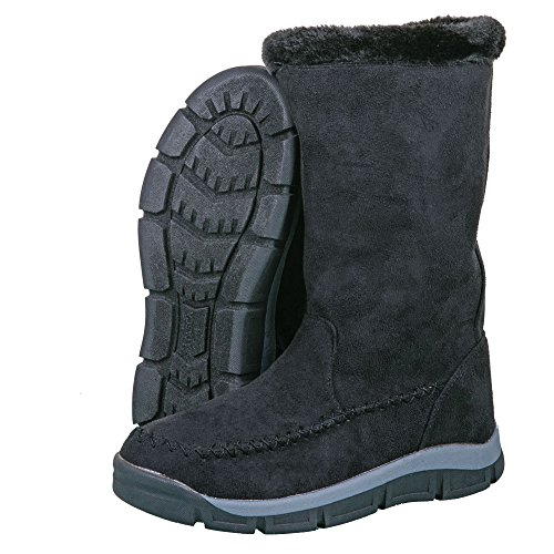 Boots Itasca Womens (Itasca Women's Daphne Tall Winter Faux Shearling Collar Size 6 Snow Boot, Black, 6.0 D US)