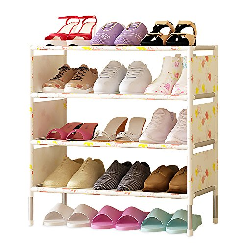 FKUO Shoes shelf Easy Assembled Non-woven 5 Layer Shoe Rack Shelf Storage Organizer Stand Holder Keep Room Neat Door by FKUO