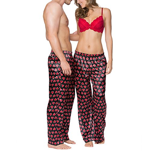 Smart & Sexy His & Her Satin Pajama (Valentines Day Satin)