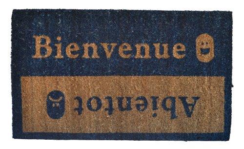 (Imports Décor 516PVC Bienvenue Abientot Vinyl Back Coir Doormat, 18-Inch by 30-Inch )