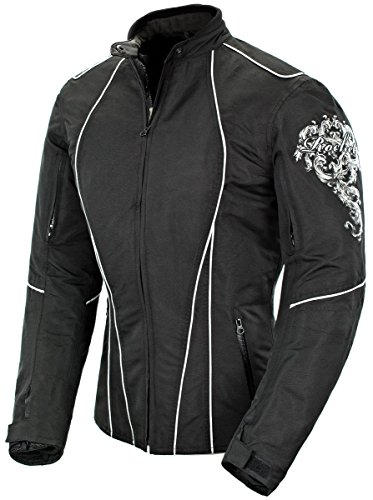 Joe Rocket Alter Ego 3.0 Womens Black/White Textile/Mesh Motorcycle Jacket - X-Small