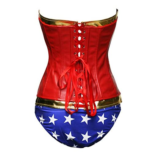 Bslingerie Woman Halloween Costume Overbust Corset with Shorts