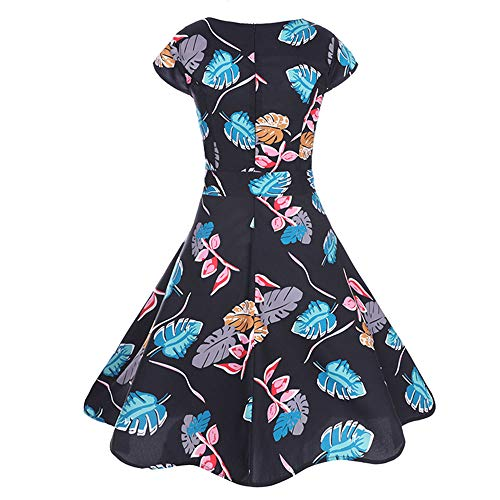 (Women Dresses Godathe Women Vintage Printing Bodycon Sleeve Casual Evening Party Prom Swing Dress)