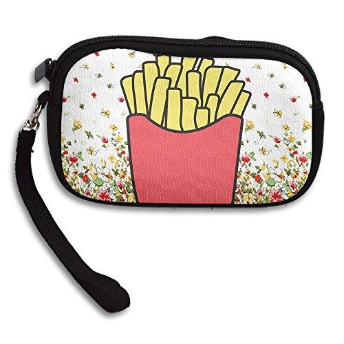 Zipper Small Wallet French Fries Women's Purse Porte-monnaie Clutch Cards Holder Wallet Purse Business Card Wallet
