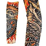 Bolayu Temporary Fake Slip On Tattoo Arm Sleeves, New Fashion Sunscreen Arm Sleeves Kit (E)
