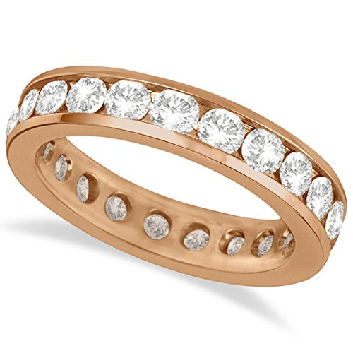 (Channel-Set Diamond Eternity Ring Band 14k Rose Gold (2.25ct))
