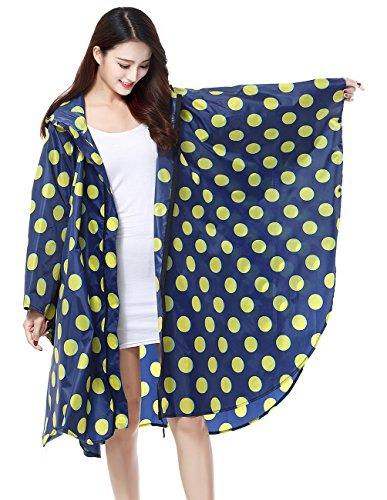 lger impermable de Blue l'eau extrieure poncho active zippent femmes Les impermable pluie de capuche Dark impermable beaut x061XUg