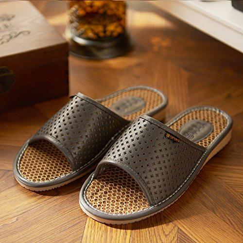 Zapatillas de los amantes de la ropa, casa, interior Piso zapatillas,36 - 37 días Azul 40 y 41 gris