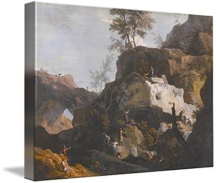 Amazon.com: Wall Art Print entitled Marco Ricci 1676-1730 A ROCKY ...