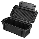 Tool Organizers Outdoor Shockproof Waterproof Boxes Survival Airtight Case Holder Storage Matches Tools Travel Sealed Containers Storage Box - (Color: Black)