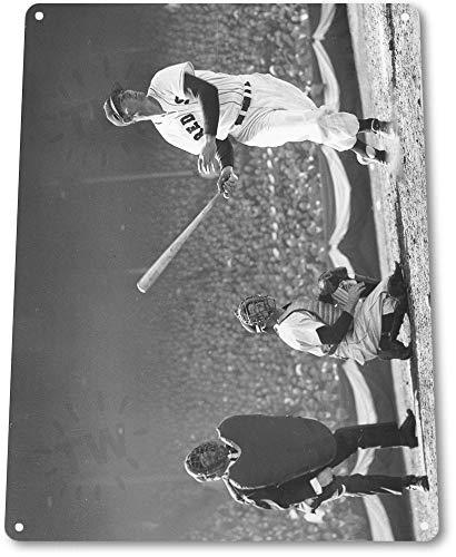 Tin Sign 8x12 inches Ted Williams Home Run Yankees Baseball Metal Store Card Shop