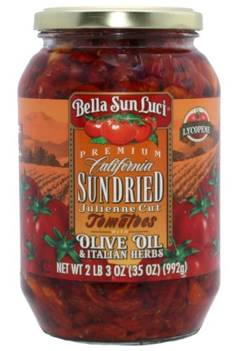 35 oz Bella Sun Luci Sun Dried Tomatoes Julienne Cut in Olive Oil (Original Version)