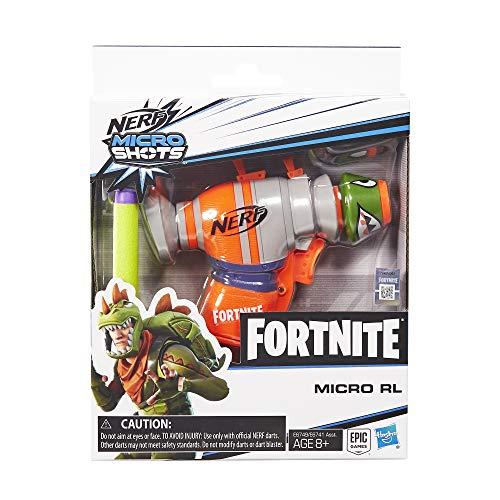 NERF Fortnite RL MicroShots Dart-Firing Toy Blaster and 2 Official Elite Darts