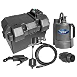Superior Pump 92910 Powered Battery Back up Sump Pump with Vertical Switch, 12V