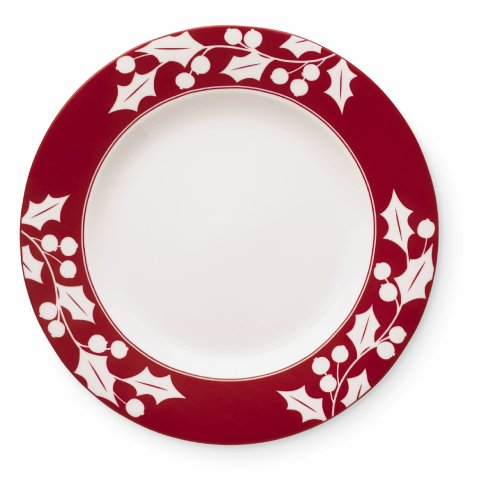 Lenox Holly Silhouette - Lenox Holly Silhouette 9 inch Accent Plate (white)