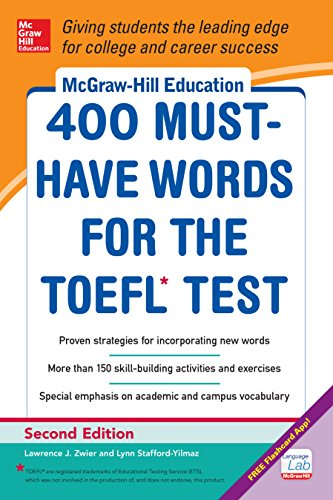 Download McGraw-Hill Education 400 Must-Have Words for the TOEFL, 2nd Edition Pdf
