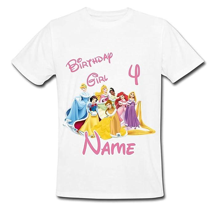 3fd2f7810 Sprinklecart 4th Birthday T Shirt | Personalized Disney Princess Lovely  Kids Birthday Wear (28)
