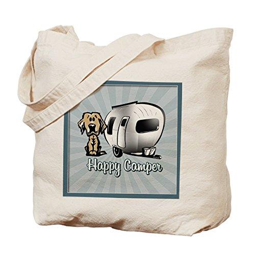 CafePress Happy Camper perro–Gamuza de bolsa de lona bolsa, bolsa de la compra