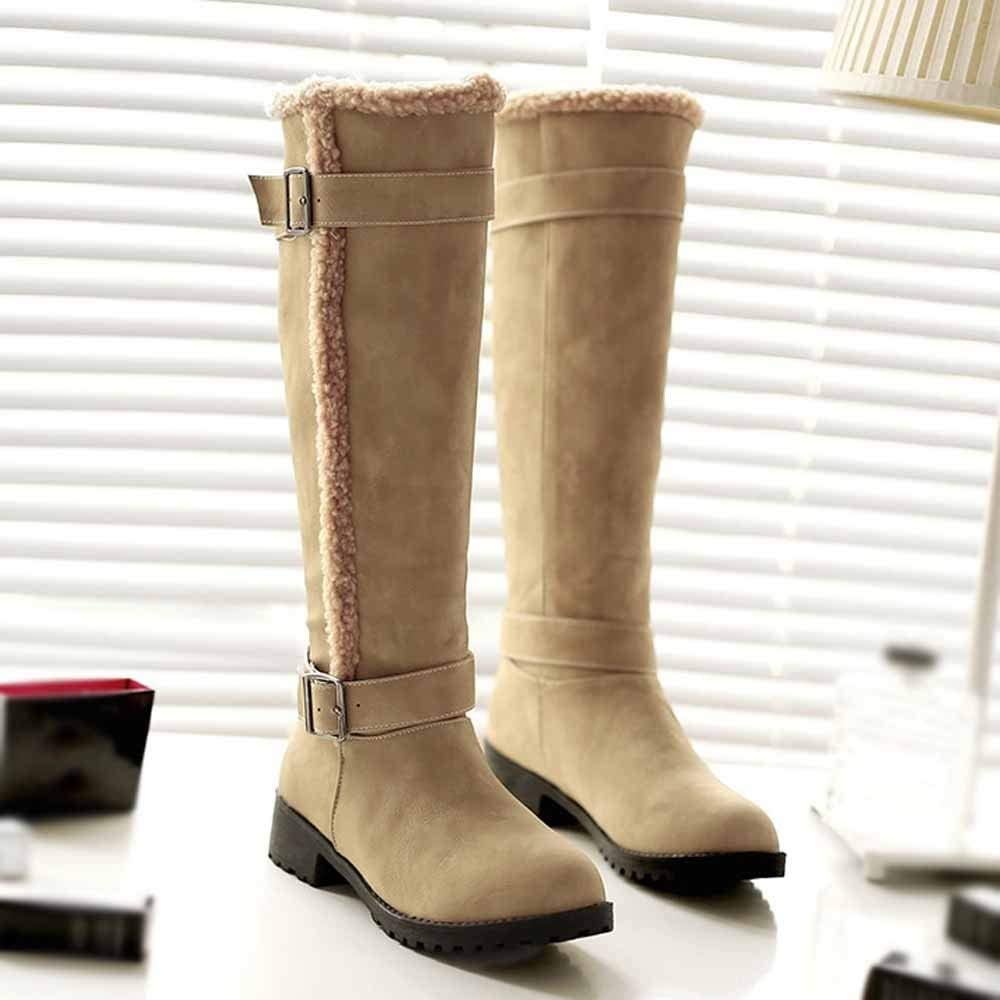 Winter Warm Snow Boot Womens Casual Comfortable Warm Plush Winter Knee High Boots