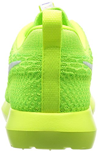 Nike Menns Roshe Nm Flyknit, Volt / Hvit-elektrisk Grønn, 10,5 M Oss