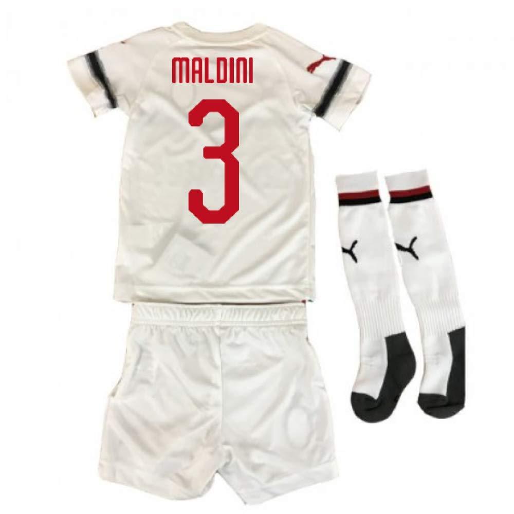UKSoccershop 2018-2019 AC Milan Puma Away Mini Kit (Paolo Maldini 3)