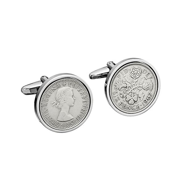 1967-English-Sixpence-Cufflinks-Gift-50th-Birthday-Gift