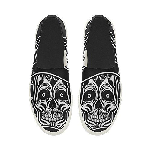 D-verhaal Custom Pilot Skull Instappers Microfiber Herenschoenen Sneaker