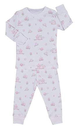 2927adfb7 Kissy Kissy Baby-Girls Infant Wonderfully Wise Print Long Pajamas Set-White  with Pink