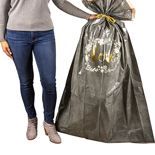 Hallmark Large Plastic Gift Bag for Engagement Parties, Bridal Showers, Weddings and More (Love)]()