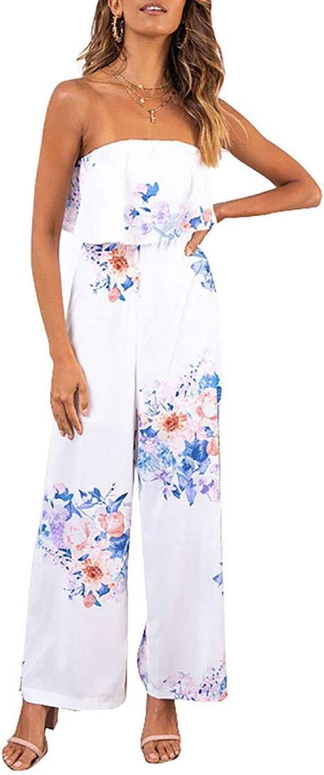 ZSRHH-Falda Vestido de Mujer Sin Mangas Fuera del Hombro Floral ...